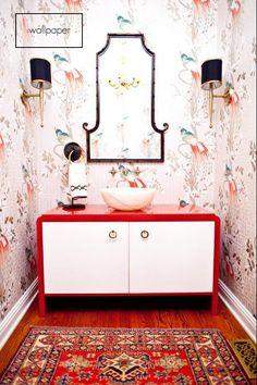 Mimosa Lane: Wallpaper || What is your powder bath personality?