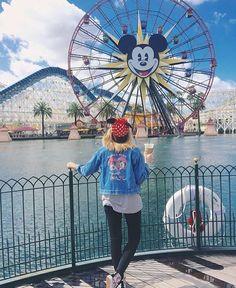 Wishing we were at @disneyland with @allabouttheears and this super cool #dressedindisney look ❤️ #Disney #disneyparks #vintagedisneydenim