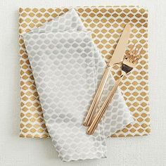 Oh West Elm, if only you had wedding registries... | Ikat Mini Lattice Napkin Set