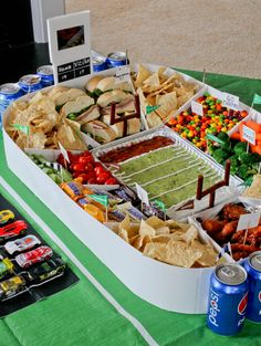 For the Big Game: Learn how to build an epic snack stadium in a few simple steps.