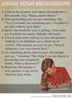 Using your microscope…