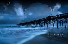 Folly Beach Pier at night!