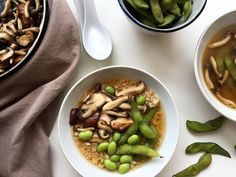 It's a little bit cooler today so I think this miso soup with brown rice edamame and sautéed mushrooms is just the right dish to have today! Recipe is in the blog archives link in profile . . . . #52grams #thekitchn #lifeandthyme #myopenkitchen #heresmyfood @food #huffposttaste #lovefood #hautecuisine #beautifulcuisines #dailyfoodfeed #gloobyfood #saveurmag #eattheworld #EEEEEATS #FRavorites #bonappetitmag #mywilliamssonoma #damnthatsdelish #feedfeed @thefeedfeed.glutenfree  #platedpics…