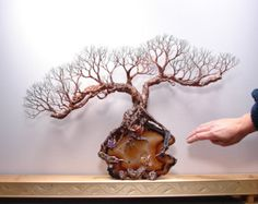 Wire Tree Of Life SPiRiT sculpture Natural Brazil by CrowsFeathers