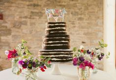 Chocolate Wedding Cake - perfect for a whimsical wedding!