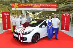 The 2 millionth has just rolled off the production line at Kia Slovakia. To put that in perspective, that's two cars for every person who lives in Kia Stinger, Kia Motors, Twin Turbo, Toyota Camry, Europe, Maserati, Birmingham, Bristol, Automobile