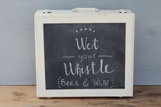 Chalkboard Suitcase Sign / Painted Vintage by WildandDaisy on Etsy