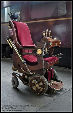 Steampunk Wheelchair, if I ever need a wheelchair, this is the one I am getting