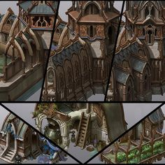 Spellforce 3 Elven buildings, Vladimir Krisetskiy on ArtStation at https://www.artstation.com/artwork/6eqWr