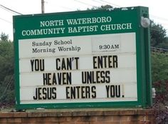 29 Church Signs That Make You Scratch Your Head - OMG this is so freakin' hilarious (and morally wrong)!
