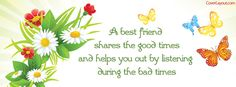A Best Friend Shares The Good Times and Helps Facebook Cover CoverLayout.com
