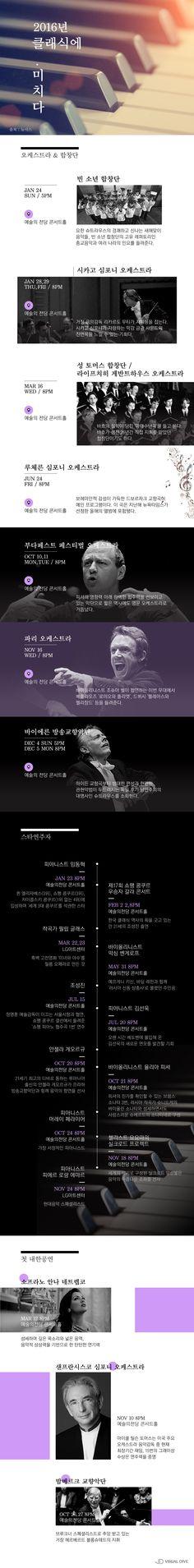 클래식에 미치다…2016년 화려한 라인업 [인포그래픽] #Music / #Infographic ⓒ 비주얼다이브 무단 복사·전재·재배포 금지