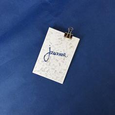 set de 12 cartes assorties mois de lannée fond par JeanneZam