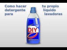 Ahorrar en tiempos de Crisis: Cómo hacer tu propio detergente para Lavadoras Minimalist Design, Cleaning Supplies, Water Bottle, Elsa, Diys, Alphabet, Soap Recipes, Home Made Soap, Laundry Detergent
