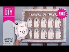 [MATRIMONIO FAI DA TE] Tutorial Tableau e Segnatavoli shabby chic - progetto #38 - YouTube