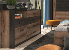 A luxurious range, Kassel range offers a sideboard, great for storage in bedroom or living room. Modern Bedroom Furniture, Furniture Decor, Bedroom Decor, Storage Drawers, Chest Of Drawers, Modern Country, Luxurious Bedrooms, White Oak, Sideboard