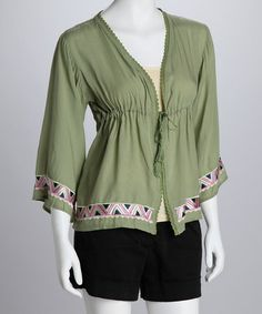 Take a look at this Green Open Top by Luv2Luv on #zulily today! $9.99, regular 43.00