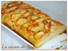 Quesada de manzana (sin queso) facil facilisima Apple Pie Recipes, Sweet Recipes, Vegan Pastries, Muffins, Delicious Desserts, Yummy Food, Sin Gluten, Gluten Free, Flan
