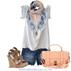 Casual Blue & Peach