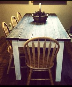 Unique Primtiques Primitive Distressed Dark Walnut Stained Country White FARMHOUSE Farm Kitchen Table Custom Sizes Different Colors Avail