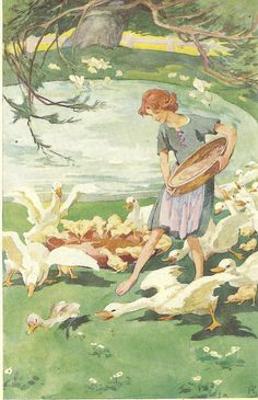 Helen Stratton (1867-1961) - The Ugly Duckling - 1940s
