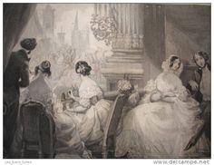 """L' ÉTÉ à PARIS 1840 """" INTÉRIEUR D'UNE LOGE à L'OPÉRA  """""""