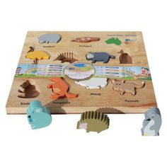 Australian Animal Puzzle and Play Set by Q Toys. Get it now or find more Kids Toys at Temple & Webster. Koala Nursery, Animal Nursery, Nursery Art, Australian Nursery, Australian Animals, Jigsaw Gifts, Animal Puzzle, Nursery Themes, Themed Nursery