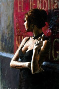 Noches De Buenos Aires Ii Artwork By Fabian Perez Oil Painting & Art Prints On Canvas For Sale Fabian Perez, Art For Art Sake, All Art, Paintings For Sale, Original Paintings, Smoke Painting, Romain Gary, Local Art Galleries, Art Sites