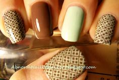 Mint-chocolate-nails  http://abnormnailbehavior.blogspot.com