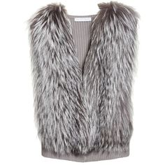 Women's Fabiana Filippi Wool, Silk & Cashmere Knit Vest With Genuine... ($1,222) ❤ liked on Polyvore featuring outerwear, vests, vest, wool vest, fox fur vest, wool waistcoat, vest waistcoat and woolen vest