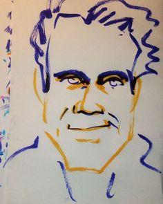 いいね!2件、コメント1件 ― @1mindrawのInstagramアカウント: 「#1mindraw #tomtykwer #トムティクヴァ #19650523 #birthday #誕生日 #portrait #筆ペン画」