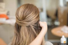 Hair Hacks - Tricks for Styling Your Hair - Create an easy, cool updo in seconds with just bobby pins.