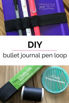 Easy DIY bullet journal pen loop! Make your own pen loop in 20 minutes or less with just 3 materials!