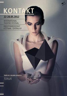 Kontakt – International Theatre Festival - Visual Identity by Radek Staniec / repinned on toby designs