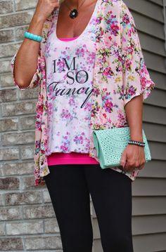 Living on Cloud Nine: I'M SO FANCY! Kimono Set