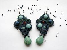 Kolczyki sutache #sutasz #soutache #earrings