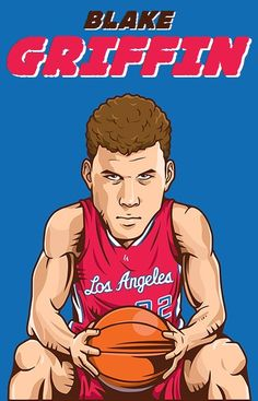 Blake Griffin, Los Angeles Clippers, Nba, Sports, Movies, Movie Posters, Caricatures, Hs Sports, Films