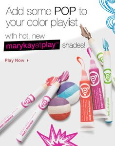 8 new colors for the Mary Kay @ Play line!