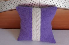 Hand knit pillow cover cable knit pillowcase by Adorablewares, $31.00