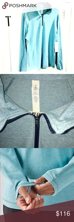 NWT Lululemon Men's Surge Warm Half Zip*Silver BNWT.       Sold Out style & color!       MSRP $118.    trades. lululemon athletica Jackets & Coats Performance Jackets