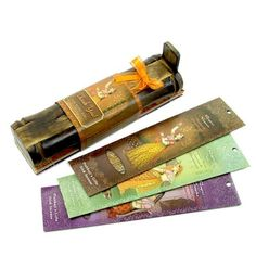 Incense Gift Set - Bamboo Burner + 3 Harmony Incense Sticks Packs & Holiday Greeting - Joy
