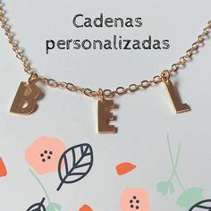 Delicada cadena en Oro Golfi con letras en bronce ¡Tú escoges las letras! #cadenasgolfi #golfibarranquilla #accesoriosbarranquilla #cadenaspersonalizadas