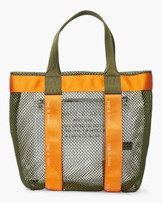 Rag & Bone 425 Mesh Tote Leather Handbags, Leather Bag, Mesh Backpack, Classic Handbags, Sack Bag, Filets, Womens Tote Bags, My Bags, Bag Making