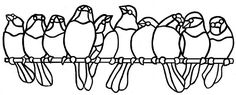 Birds on a wire pattern