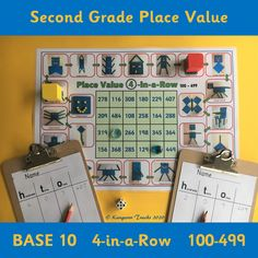 In this 4-in-a-Row game (100-499), students practice counting in hundreds, tens and ones from 100 to 499. They will also practice reading