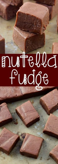 Nutella Fudge is a SUPER fast recipe that your friends and family will ask for again and again!:This Nutella Fudge is a SUPER fast recipe that your friends and family will ask for again and again! Delicious Fudge Recipe, Best Fudge Recipe, Fudge Recipes, Candy Recipes, Sweet Recipes, Delicious Desserts, Fast Recipes, Fast And Easy Desserts, Yummy Food