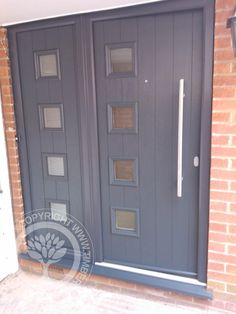 Front door with double glazed panels constructed and for Composite door design your own