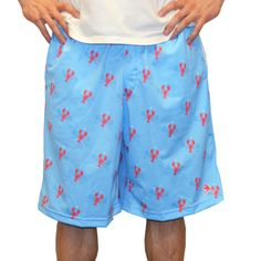 #LacrosseUnlimited Exclusive Lobster Lacrosse Shorts. #lobster #alwaysCustom #lacrosse #lax #spring