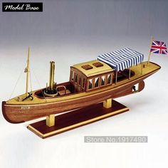 Wooden Ship Models Kits DIY Train Hobby Educational Toy Model Boats Wooden 3d Laser Cut Scale 1/26Louise No. Victorian Steamship