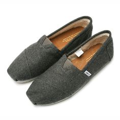 Toms Mens Classic Black Wool $54